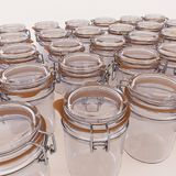 Glass jars isolated on white background. 3d illustration Stock Photo