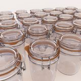 Glass jars isolated on white background. 3d illustration Royalty Free Stock Photos
