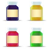 Glass jars with jam Stock Photo