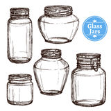 Glass Jars Set Royalty Free Stock Photography