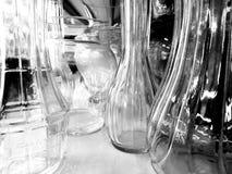 Glass. Jars  on shelf Stock Images