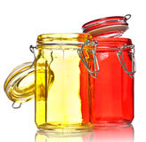 Glass Jars for Spice Stock Image