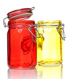 Glass Jars for Spice Royalty Free Stock Photography