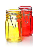 Glass Jars for Spice Royalty Free Stock Photos