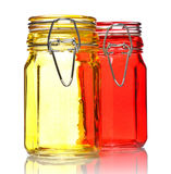 Glass Jars for Spice Royalty Free Stock Photo