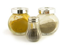 Glass jars for spices Royalty Free Stock Photo