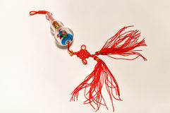 Glass Jewelry. Chinese specialty glass ornaments on a white background Stock Photography