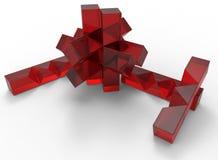 Glass jigsaw toy Royalty Free Stock Image