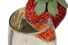 glass jordgubbe fotografering för bildbyråer