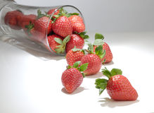 glass jordgubbe royaltyfri fotografi