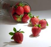 glass jordgubbe arkivbilder