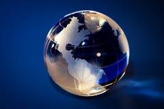 Glass jordklot Arkivfoton