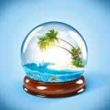 Glass jordklot vektor illustrationer