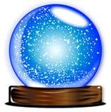 Glass jordklotSmow storm Royaltyfria Bilder