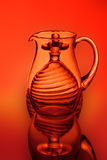 A glass jug, balls and a wineglass Royalty Free Stock Images