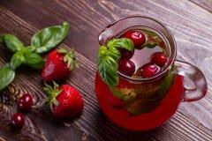 Glass jug of freshness lemonade. Stock Photo