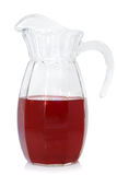 Glass jug of fruit drink Royalty Free Stock Photography