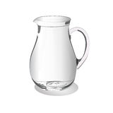 Glass jug isolated on a white background, vector illustration stock illustration