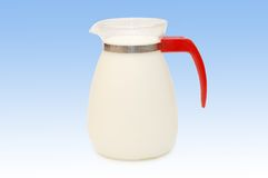 Glass jug of milk Royalty Free Stock Images