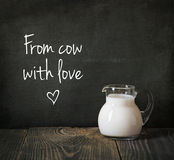 Glass jug of milk Stock Photography