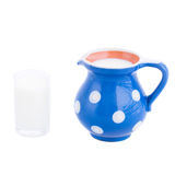 Glass and jug of milk Stock Photo
