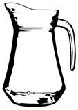 Glass jug Royalty Free Stock Image