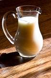 Glass jug of milk Stock Images