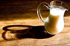 Glass jug of milk Royalty Free Stock Photo
