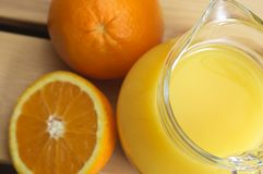 Glass Jug of Orange Juice Royalty Free Stock Photos