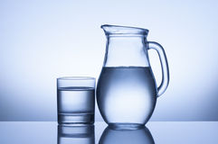 Glass and jug Stock Photo
