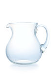 Glass jug on a white background. Isolated Stock Images