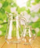 Glass jugs Stock Photos