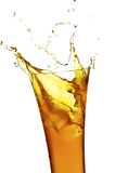 Glass with juice. On the white background Stock Photography
