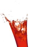 Glass with juice Royalty Free Stock Image