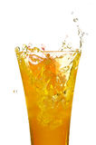 Glass with juice. On the white background Stock Image