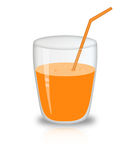 Glass of juice stock illustration