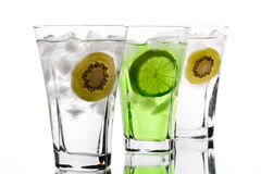 Glass of juice Stock Photos