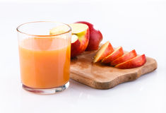 Glass of juice  and  apple Stock Photography