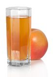 Glass of juice and the apple Royalty Free Stock Photography