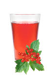Glass of juice and fresh currant berries Royalty Free Stock Photo