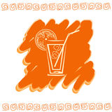 Glass of juice icon royalty free stock photo