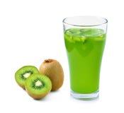 Glass of juice with kiwi Stock Image