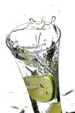 Glass with juice and lemon Stock Image