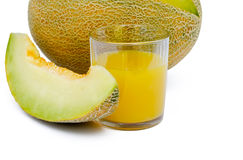 Glass of juice. And melon Stock Images
