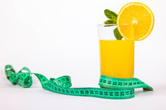 Glass of juice and meter Stock Image
