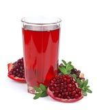 Glass of juice pomergranate Stock Photography