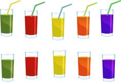 Glass of juice Royalty Free Stock Image