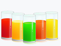 Glass with juices Stock Photography