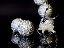 Glass julfullvuxen hankronhjort Arkivbild