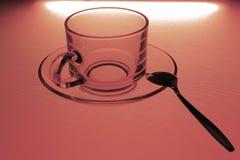 Glass kaffekopp Royaltyfri Bild